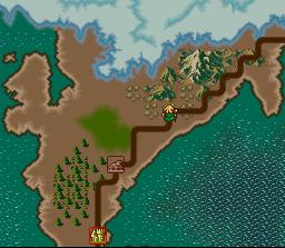 There isn't much of a world map in the game. Here, the hero follows a dusty trail.