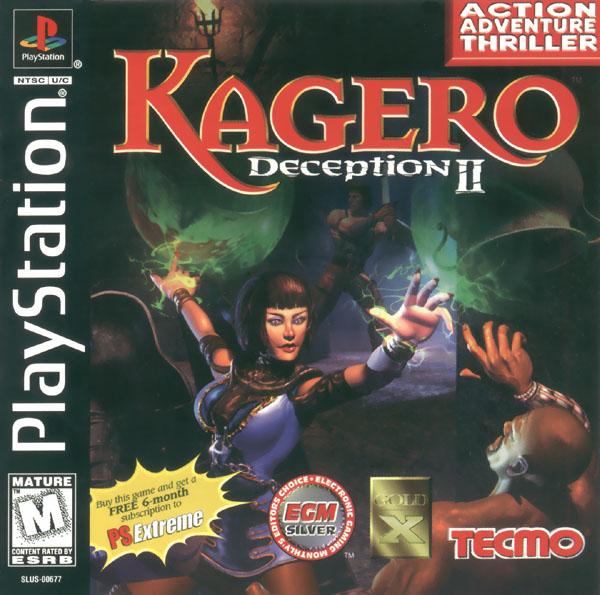 Kagero Case: Front/Manual Kagero Case: Back Kagero: Game CD